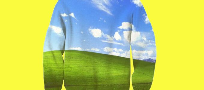 סוודר חלונות XP שנמכר באתר Shelfies